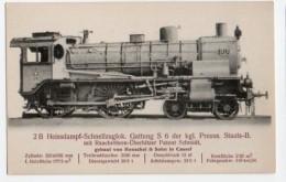 Locomotive 093, Fachzeitschrift Serie V Nr 24, 2B Heissdampf-Schnellzuglok., Kgl. Preuss. Staats B, Gebaut Von Henschel  - Treinen