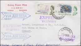 Bahamas Freimarken Segelschiffe Und Meerestiere Auf Exp-Brief NASSAU 25.1.1966 - Bahamas (1973-...)
