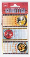 Pochette 3 Feuilles D'étiquettes Pour Cahiers Livres SYMBOLES CHINOIS YIN YANG - Scrapbooking