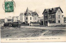 CPA -  ROTHENEUF  (35)  Groupe De Villas à L'Anse Du Val  -  Tramway - Rotheneuf