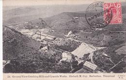 CPA TRANSVAAL (Port Elizabeth) - General View Crushing Mills An Cyanide Works - Sheba G. M. Coy -Barbeton - 1912 - Sudáfrica