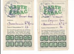 Carte D'alimentation TABAC Beauchemin Haute Marne - Historische Dokumente