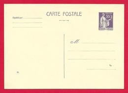 Entier Postal Vierge Type Paix à 0.55 Centime - Biglietto Postale