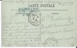 1916 - CARTE FM De L'HOPITAL TEMPORAIRE N° 59 De MONT-DORE (PUY DE DOME) - Postmark Collection (Covers)