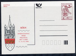 CZECH REPUBLIC 1994 Historic Postman 2 Kc Köln '94  Unused.  Michel P3-A4 - Postal Stationery