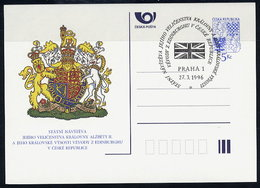 CZECH REPUBLIC 1996 5 Kc Visit Of Queen Elizabeth II, Cancelled.  Michel P10 - Postal Stationery
