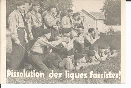 1934 Marcel Bucard Dissolution Des Ligues Fascistes - Carte Postale - Partis Politiques & élections