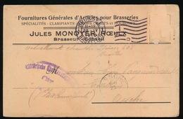 BRASSEUR LE ROEUX   - DUITSE CONTROLE STEMPEL 1916 - NAAR ASSE -  ZIE 2 AFBEELDINGEN - Asse