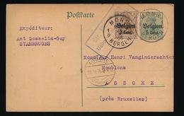 STAMBRUGES   - DUITSE CONTROLE STEMPEL 1916 - NAAR ASSE -  ZIE 2 AFBEELDINGEN - Asse