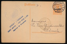 BRUXELLES    - DUITSE CONTROLE STEMPEL 1917 - NAAR ASSE -  ZIE 2 AFBEELDINGEN - Asse