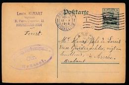 VORST  KINART     - DUITSE CONTROLE STEMPEL 1915 - NAAR ASSE -  ZIE 2 AFBEELDINGEN - Asse
