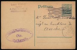 BRUXELLES KINART     - DUITSE CONTROLE STEMPEL 1915 - NAAR ASSE -  ZIE 2 AFBEELDINGEN - Asse