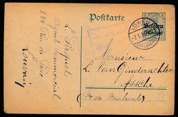 LEUVEN     - DUITSE CONTROLE STEMPEL 1916 - NAAR ASSE -  ZIE 2 AFBEELDINGEN - Asse
