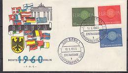 Europa Cept 1960 Germany 3v FDC (37932) - 1960