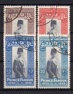 EGYPTE ( POSTE ) : Y&T  N°  136/139  TIMBRES  BIEN  OBLITERES , A  VOIR . - Egypt