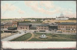 New Station, NY & NH Railroad, Providence, Rhode Island, C.1905 - Souvenir U/B Glitter Postcard - Providence