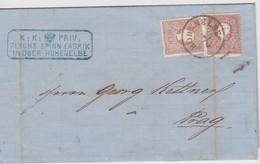 AUTRICHE 1860 LETTRE DE OBER-HOHENELBE/VRCHLABI - Briefe U. Dokumente
