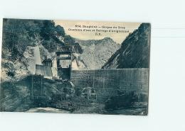 AVIGNONNET - Lot De 3 CPA : Le Barrage - Gorgesv Du Drac - 3 Scans - France