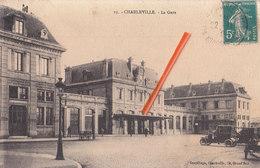 """CHARLEVILLE - La Gare - édité Par:""""Gaspillage, 34, Grand'Rue à Charleville"""" - Charleville"""