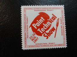 1967 Paint Technical Show Vignette Poster Stamp Label Belgium - Erinnophilie