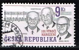 Tschechien 2002, Michel# 315 O K. Vacek, J. Vejvoda, J. Poncar (composers) - Czech Republic