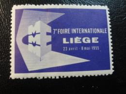 1955 Foire De LIEGE Vignette Poster Stamp Label Belgium - Commemorative Labels