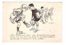 Illustrateur Illustration Poulbot Cpa Cachet 1939  Pour Les Chaussures Comme Pour Les Gibecieres Rien Ne Vaut Le Cuir - Poulbot, F.