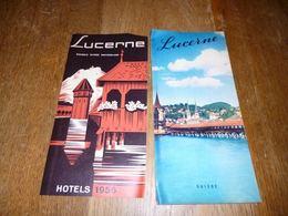 CB9T1 Dépliant Tourisme Suisse Lucerne (bien Lire Mes Conditions De Vente) - Dépliants Touristiques