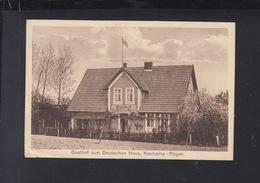 Dt. Reich AK Gasthof Zum Deutschen Haus Neukamp-Rügen - Rügen