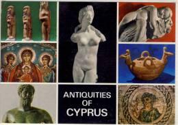 CYPRUS ANTIQUITIES  MARBLE STATUE TERRACOTA FIGUREINES WALL PAINTING BRONZE STATUE NICE STAMP - Cyprus