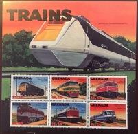 Grenada 2000 Trains Sheetlet MNH - Grenada (1974-...)