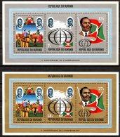 Rep. Burundi   BL 60 / 61 + BL 60A / 61A   XX   ---   MNH  --   TTB - Burundi