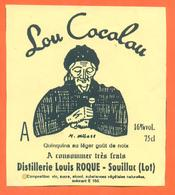 étiquette Quinquina Au Gout De Noix Lou Cacalou - Louis Roque à Souillac - 16 °/° - 75 Cl - Sonstige