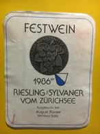 7981 - Riesling-Sylvaner Vom Zurichsee 1986 Pour Fête Cantonale De Tir Suisse - Autres