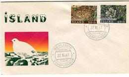 Iceland/Islande/Ijsland/Island FDC 22.XI.1967 Birds Nest Matching Cover - FDC