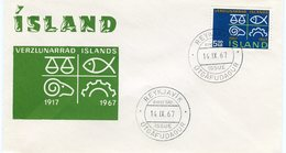 Iceland/Islande/Ijsland/Island FDC 14.IX.1967 Chamber Of Commerce Matching Cover - FDC
