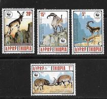 ETHIOPIE 1990 WWF-MOUFLONS  YVERT N°1281/84  NEUF MNH** - Neufs
