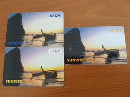 Sunrise 10, 20, 50 DM - Sun Rise Motive / Ozean / Beach  -   Used Condition - Deutschland