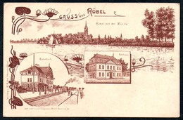 B2216 - Gruß Aus Röbel A. Müritz - Bahnhof Rathaus W. Bohn - Nachlaß Carl Creve Kamminke - Lesen !!! - Roebel