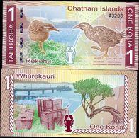 CHATHAM ISLANDS 1 KOHA REKOHU 2013 / 2014 POLYMER UNC - Kaimaninseln