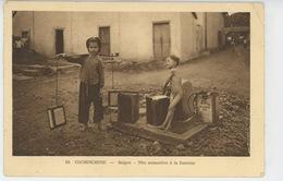 ASIE - VIET NAM - COCHINCHINE - SAÏGON - Nho Annamites à La Fontaine (enfant Nu - Naked Little Boy ) - Vietnam