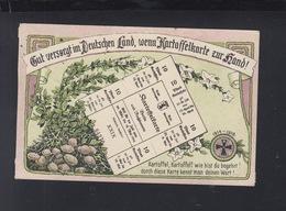 Dt. Reich PK Kartoffelkarte 1916 - Geschichte