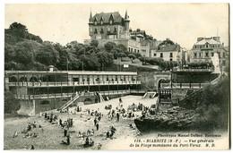 CPA 64 Pyrénées Atlantiques Biarritz Vue Générale De La Plage Mondaine Du Vieux-Port - Biarritz