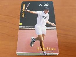 Prepaid Phonecard Card 20 Fr - Tennis Player / Sport -  Teleline   -  Fine Used - Schweiz