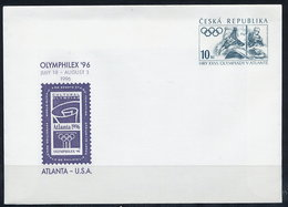 CZECH REPUBLIC 1996 10 Kc Envelope OLYMPHILEX '96 Unused.  Michel U3 - Postal Stationery