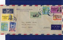POSTAL HISTORY 28-1-1960 -Italian Embassy Monrovia  Airmail  Cover To  Italy - Liberia