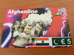 Afghanline  - 5 €  Horse Rider   -  Little Printed  -   Used Condition - Deutschland