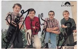 Ancienne Carte Postale POLYDOR LES PLAYERS Autographes Années 60 - Musique Et Musiciens
