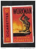 MALTA - WORKMAN  PACKET OF 10 CIGARETTES  MALTA  1940 - - Empty Cigarettes Boxes
