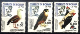 Bolivia 2002 New 3 Birds 1 Flaw On The Back Of The Ticket - Bolivia